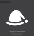 santas hat premium icon white on dark background vector image