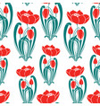 seamless pattern of decorative tulips vector image vector image