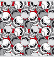seamless pattern skull vector image vector image