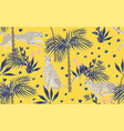 seamless pattern with tropical print on a beige vector image vector image