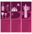 Set of banner for winemaking industry with vector image