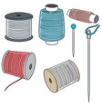 set of sewing accessories vector image vector image