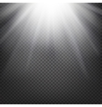 Shiny sunburst background vector image