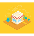 shop building isometric vector image vector image