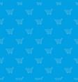 shopping cart pattern seamless blue vector image vector image