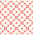 simple geometric seamless pattern red and beige vector image