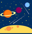 solar system comparison of planets space dregs vector image