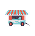 street fast food store on wheels mobile food vector image vector image