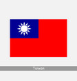 taiwan taiwanese national country flag banner icon vector image