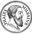 thales miletus stamp vector image vector image