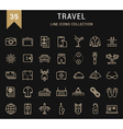 Travel Line Icons 9 vector image vector image