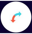 U-Turn computer symbol vector image vector image