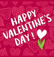 valentine s day greeting card vector image vector image