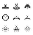 weapon logo set simple style vector image vector image