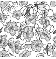 white gray black cherry flowers vector image vector image