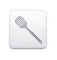 white slotted kitchen spoon icon Eps10 Easy to vector image