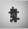 piece of puzzle icon isolated on grey background vector image