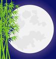 Bamboo moon vector image