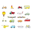 Transport doodle set colored vector image