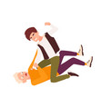 angry fighting and brawling boys conflict between vector image vector image