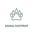 animal footprint line icon animal vector image