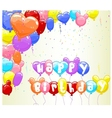 background with colorful balloon vector image