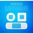 Bandage plaster flat icon on blue background vector image
