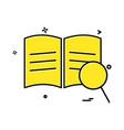 book search icon design vector image