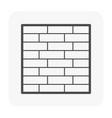 brick wall icon vector image vector image