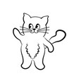 cat waving paw vector image