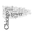 chicago is home to the historic water tower vector image vector image