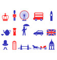 color uk england british icons set vector image vector image