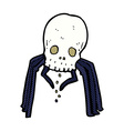 comic cartoon spooky skull spider vector image