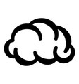 communication cloud icon simple black style vector image