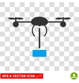 Copter Shipment Eps Icon vector image vector image