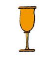 cup glassware crystal for beverage icon vector image vector image