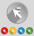 Cursor arrow minus icon sign Symbol on five flat vector image vector image