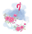 cute cartoon umbrella with flowers vector image vector image