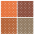 Dark brown polka dots seamless pattern set vector image vector image
