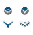 deer logo template icon vector image