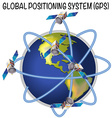 Diagram of global positioning system vector image vector image