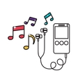 digital music player icon image vector image vector image