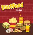 fastfood snacks theme set vector image vector image