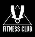 fitness badge and logo good for print design vector image vector image