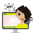 flat blogger video concept vector image vector image