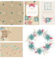 Floral cards collection for Valentines day design vector image vector image