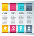 four colored steps for presentations composition vector image