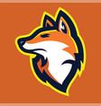 fox head mascot vector image vector image