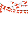garland banner in colors canada canadian vector image