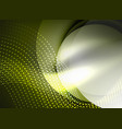 glowing wave created with particles on dark color vector image vector image
